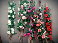 Wholesale High simulation article rose vine have white red mei red purple pink champagne Used in home decoration store decoration indoor plum