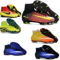 Wholesale Kids New Womens Youth Mercurial Superfly FG CR7 Cleats Shoes Soccer Boots Magista Obra Socks Boots Hypervenom Phantom Football Shoes