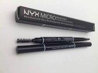 Wholesale Hot Sales Lastest NYX MICRO Brow Pencil Colors Crayon pour les ssourcils g Two head Eyebrow