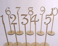 bar table wooden - 1Set Wooden Letter Table Number For Hotal Bar Wedding Party Decoration Favor