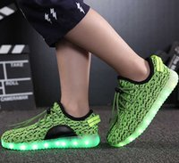 Wholesale LED light shoes New Fly USB rechargeable coconut shoes Lace up Casual Breathable shoes sales