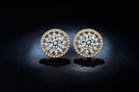 big diamond hoop earrings - MDEAN K gold plated Earring Hot Selling Fashion Earing Earrings for Women big AAA Zircon cz diamond Wedding Luxury Hoop ME049