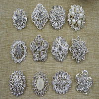 american process - Fashion Broocheswomens big flower silver mix wedding process Pop fashion suit accessories for wedding party L95