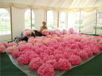 blue tissue paper - 7 sizes Tissue Paper wedding party pom poms Environment Friendly Party Pompom colors For U Pick