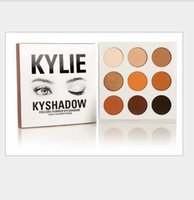 Wholesale In Stock Kyshadow kylie Jenner kit pressed powder eye shadow Kylie Cosmetics Eyeshadow the Bronze Palette colors with retail box