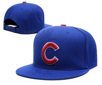 adult chicago - 2016 New high quality Chicago Cubs Baseball Team adjustable Hats Sport Snapback Hats Fashion Hip Hop Flat Baseball Caps