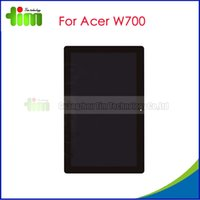 acer replacement lcd - For Acer W700 Original LCD display touch screen with digitizer assembly replacement spare parts Black Tim03