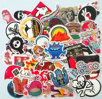 Wholesale 50 Car Stickers random DIY funny home skateboard name suitcase sticker bomb laptop doodle number waterproof Vinyl Decals