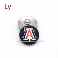 beads arizona - Noosa chunks Pendant Bracelet mm Snap button buttoned Arizona NACC University sports interchangeable jewelry for Sports fans NE0028