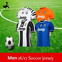 Wholesale Thai Quality Juventus soccer jerseys home away RD HIGUAIN MARCHISIO DYBALA POGBA custom football shirts All pacth