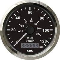 Wholesale 85mm KUS black normal impulse speedometer km h CMOB BS L SV KY08000