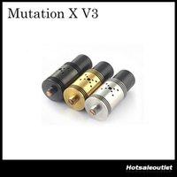 Precio de Tanque de mutación-Rebuildable Atomizer Mutilador Mutación X V3 RDA Tanque 22mm 9 Holes Control Flujo de aire Indulgencia Mutación x V3 Atomizador DHL Libre