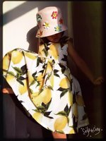 Cheap New 2016 Lemon Printed Children Clothing Dresses Summer Big Girls Dress Fruit Party Dress Cotton Vest Sleeveless Dresses Kids clothes A5490