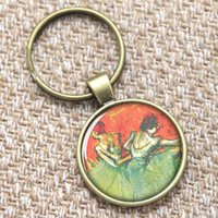 ballerina boy - 12pcs Degas Ballerina keyring dancing with Honorable movements keyring Print Photo French Jewelry keyring