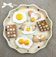 Wholesale Simulated Food Eggs D Realistic Resin Stereo Fridges Magnets Cute Flexible Fridge Magnets Gift Toys New Designed