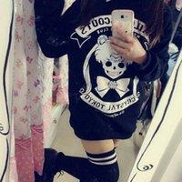 Wholesale Harajuku Anime sailor moon Kawaii printed black cosplay sweatshirts cute hoodies kawaii sailor moon shirt poleras de mujer