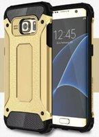 spigen - For Samsung Galaxy S7 Plus S7 Edge S6 Edge S5 Samsung Note Note Newest Hybrid Spigen Case Dual Layer Armor Case