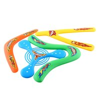 Wholesale 4Shapes Lightweight Outdoor Genuine Returning Sporting Throwback Kids Colorful BoomerangOutdoor Fun Shipping