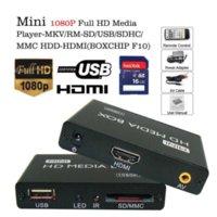 Wholesale Multimedia player Mini Full HD P HDD Media Player tv box Support HDMI MKV RM SD USB SDHC MMC HDD HDMI BOXCHIP