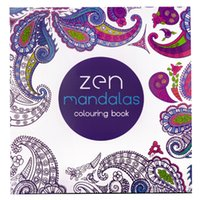 Wholesale Zen Mandalas Pages x21cm English Edition Coloring Drawing Book Children Adult Graffiti Painting Drawing Book Relieve Stress Kill Time