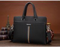 Wholesale new leather men s bags business portable document computer one shoulder bag men s leather handbags
