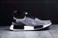 denim fabric - 2016 New Shoes NMD Micro Pacer Ultra NMD Run Primeknit black and grey Men woman running oreo grey nmd shoes
