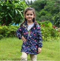 beautiful hood - 2016 New European Style Girl Winter Coats Warm Hooded Overcoat Kids Beautiful Jacket Thick Cotton Blend Children Winter Clothing