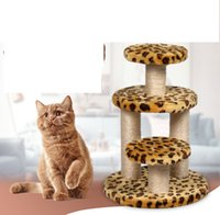 Wholesale Cat Tree Pet Toys Fashion Cat Safety Soft Climb Climbing Frame Pure Color Cat Climb Inches to Inches