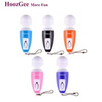 Wholesale HoozGee Classic Super Mini AV Vibration Massager Sex Products Mute Lovely Bullet Vibrator for Woman Adult Sex Toys Multicolor