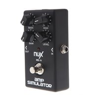 Wholesale Amplifier Simulator Violao Guitar Electric Effect Pedal True Bypass Black Musical Instrument Parts Electronic New NUX AS