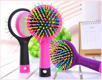 anti static hairbrush - Professional Glide Thru Detangling Hairbrush Anti static Comb with Mirror Glide profesional Thru Desenredar peine del pelo del cepillo antie