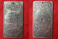 aluminum collectibles - collectibles Chinese Old Zodiac Snake tibet Silver Bullion thanka amulet