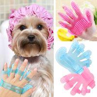 Wholesale 10 Pets Dogs and Cats Bath Cleaning Brush Bath Glove Palm Shaped Pets Massage Cleaning Brush Wash Head Scalp Massage Bush