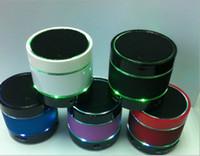 beat box radio - LED Speaker S09 Enhanced Speaker LED Light Ring Super Bass Metal Mini Portable Beat Hi Fi Bluetooth Handfree