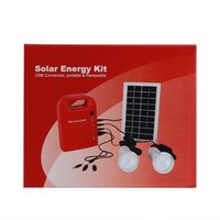 Wholesale Solar Portable Generator System - solar emergency lamp Garden Light Small Solar Generator Field Charging Led Lighting System Home Power Supply With 2 Lamps TOP 88888521