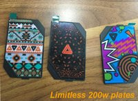 aztec red - Limitless w mod LMC Plate Canman Aztec Red Bandana plates cover for Limitless W TC Box Mod kits fit limitless plus RDTA atomizer vape