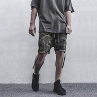 Wholesale 2016 Fashion Camouflage Shorts Hip Hop Cross Pants Men s Summer Beach Shorts Loose Short Sweatpant Jogger Trousers Sportwear LGF0617