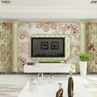 bags wallpapers - Modern minimalist D soft non woven bag floral wall stickers TV background suitable for background restaurant bedroom living room sofa ship