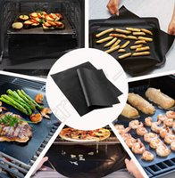 baking electric oven - BBQ Grill Liner Mat cm Black OutDoor Nonstick Resuable Bakeware Oven Hotplate Mats cooking tool OOA92