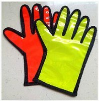 Wholesale 2 Colors Traffic Safety Command Airport Command Special Reflective Gloves Security Command Gloves Parking Command Gloves LJJC1794
