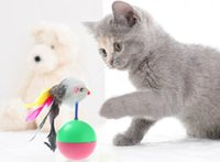Wholesale Pet Cat Toys Tumbler toy Training Fun Mouse Play Toy Rubber Tumbler Ball Tumbler Mouse cat toy