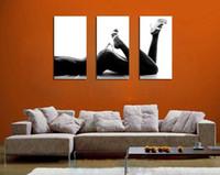 abstract heels - Original US High tech HD Print Oil Painting Art On Canvas Heels ass panels set Unframed
