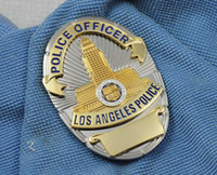 Wholesale Losangeles Angeles LAPD Los metal badges can be customized number