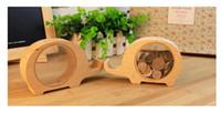 bank folk - Creative piggy bank children cute animal wooden birthday holiday gift ornaments lovely saving money piggy bank