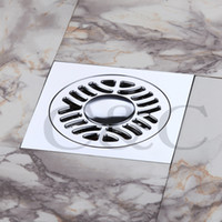 Wholesale Bathroom Washing Machine Floor Drain Contemporary Balcony Solid Brass Deodorant Square