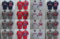 Wholesale Boston Red Sox Dustin Pedroia David Price David Ortiz Mookie Betts Cool Base Baseball Jerseys Stitched Red White Black