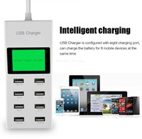 ac power extension - 2016 new Port Portable SMART USB Hub Wall Charger AC Power Adapter EU Plug Slots Charging Extension Socket Outlet With Switcher