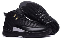 Wholesale RETRO s XII THE MASTER BLACK GOLD Basketball Shoes Sports Shoes Men Athletics Boots Black Wings French blue Master Sneaker