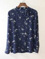 beautiful silk blouses - Women s Beautiful blue and white long sleeved silk blouse