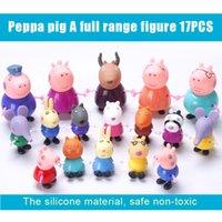 venda por atacado peppa pig toys-Chegada Nova 2016 Peppa Pig rosa amigos Suzy Emily Danny Rebacca Os presentes Pigs Figura brinquedos para as crianças.